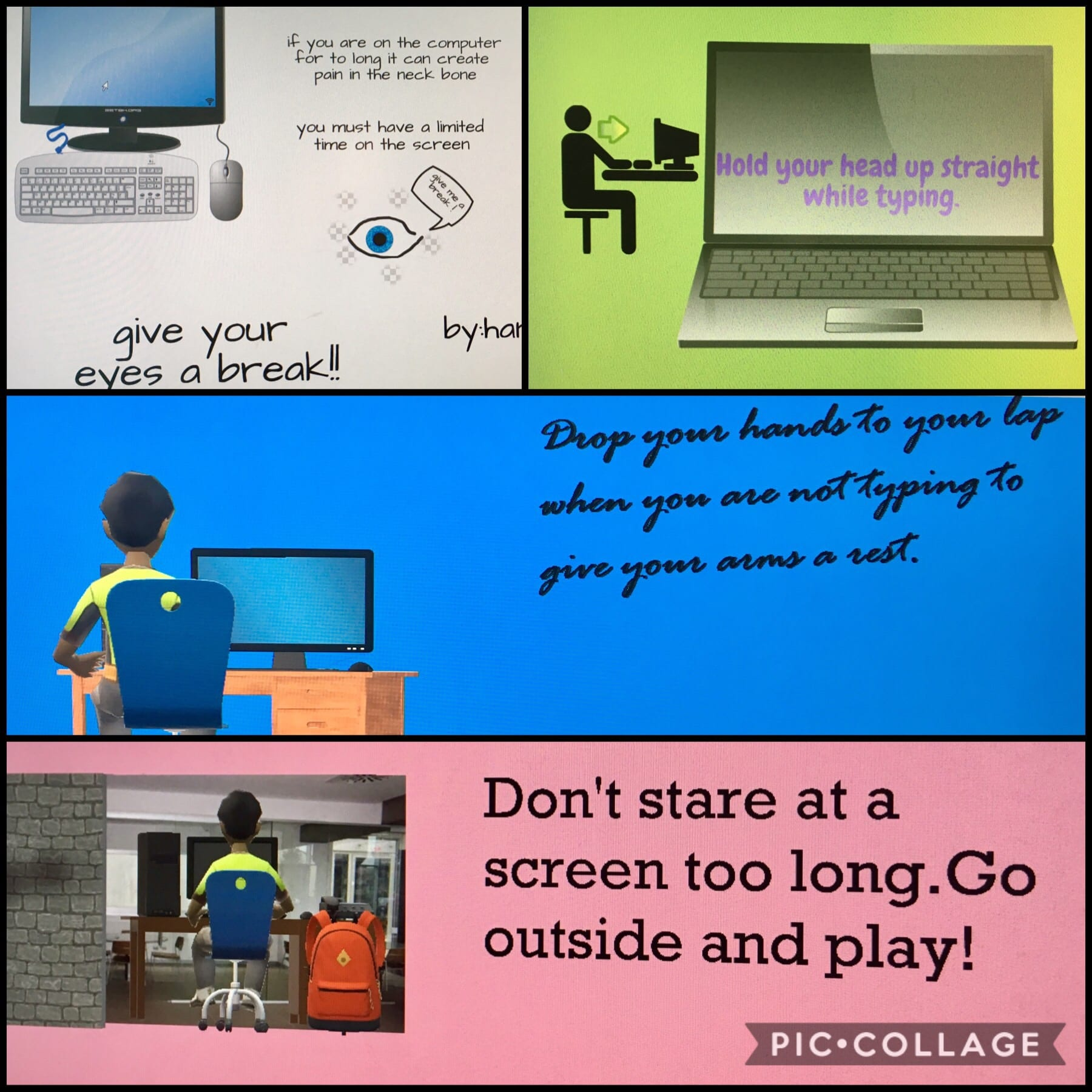 Take Breaks and Be Active! An Important Digital Message for All Students